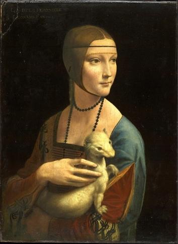Viso di giovane fanciulla 1490 Da Vinci