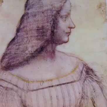 8e538527448e Particolare del Ritratto d Isabella d Este di Leonardo